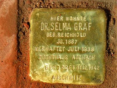 Stolperstein Dr. Selma Graf